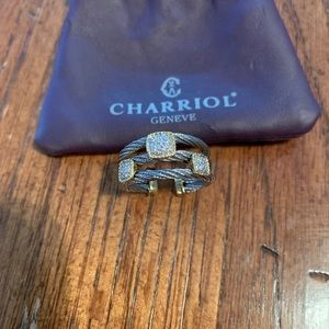 Charriol pave diamond ring